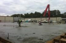 Earthwork, concrete project.